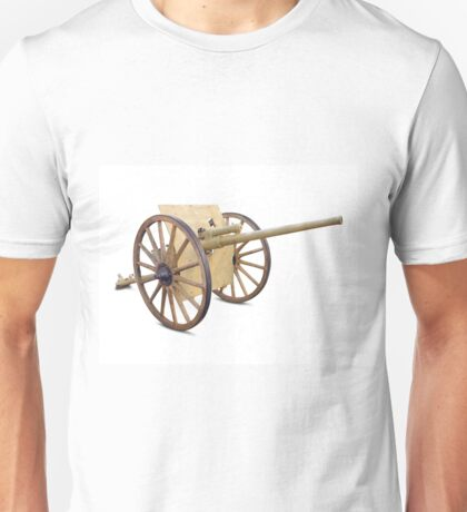 Antique Canon on White Unisex T-Shirt