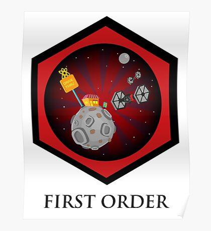 First Order - Drive Thru in the Galaxy Far Far Away Poster