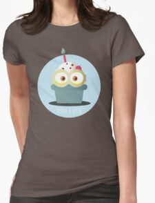 Minion Cupcake Womens Fitted T-Shirt