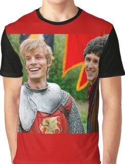 Merlin and Arthur being dorks - Merthur -  Graphic T-Shirt