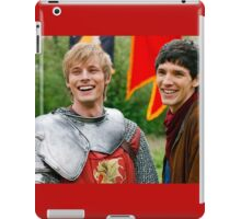 Merlin and Arthur being dorks - Merthur -  iPad Case/Skin