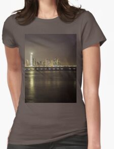 Panama's skyline picture Womens Fitted T-Shirt