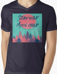 Stay wild Moon child Mens V-Neck T-Shirt