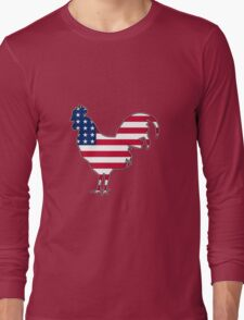 American flag chicken rooster hen T-Shirt