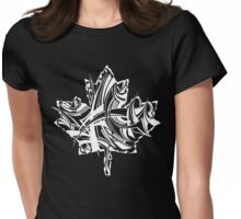 Maple Leaf White Womens Fitted T-Shirt