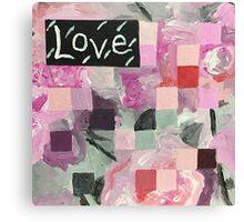 Love (Pink Squares) Canvas Print