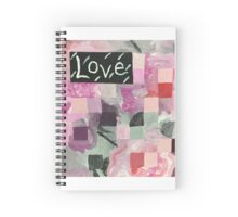 Love (Pink Squares) Spiral Notebook