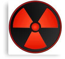 Red Radioactive Fallout Symbol - Geek Epic Gamer Nerd Canvas Print