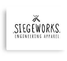Siegeworks engineering apparel Canvas Print