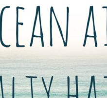 Ocean Air, salty hair Sticker