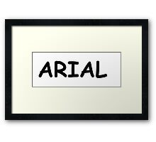 ARIAL COMIC IRONY Framed Print