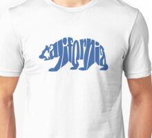 Blue California Bear Unisex T-Shirt