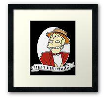 Lyle Lanley Alternative The Simpsons Goth Punk Pop Art Framed Print