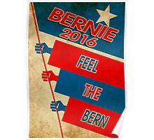 Vintage Feel The Bern Poster Poster