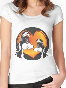 SKUNK LOVE Women's Fitted Scoop T-Shirt