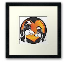 SKUNK LOVE Framed Print