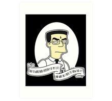 Frank 'Grimey' Grimes Alternative The Simpsons Goth Punk Pop Art Art Print