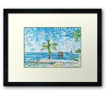 South Malé Sandbarge Framed Print
