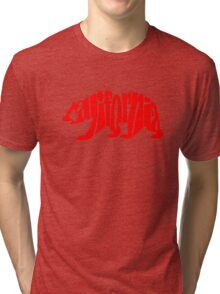 red california bear Tri-blend T-Shirt