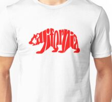 red california bear Unisex T-Shirt