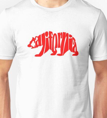 red california bear Unisex T-Shirt