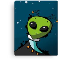 Alien in Space for Kids Canvas Print