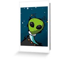 Alien in Space for Kids Greeting Card