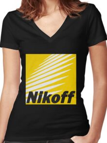 Nikoff  Women's Fitted V-Neck T-Shirt