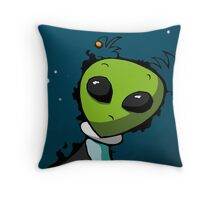 Alien in Space for Kids Throw Pillow
