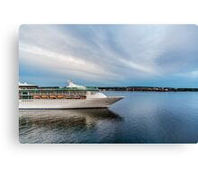 Cruise Ship Sailing at Dusk Canvas Print