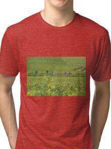 Cycling through Burgundy Tri-blend T-Shirt