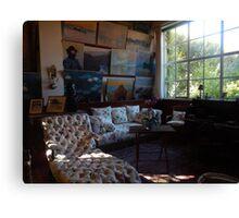 Monet's studio Canvas Print