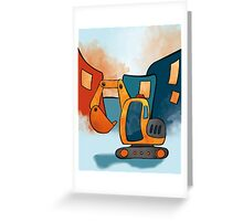 Backhoe Construction Truck for Kids Greeting Card