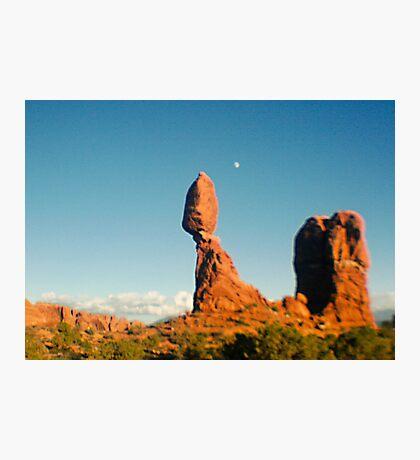 Balanced Rock Holga Style Photograph Photographic Print