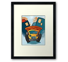 Dump Truck Construction Truck for Kids Framed Print