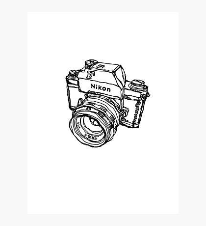 Nikon F Classic Film Camera Illustration Photographic Print