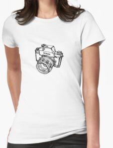 Nikon F Classic Film Camera Illustration Womens Fitted T-Shirt