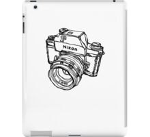 Nikon F Classic Film Camera Illustration iPad Case/Skin