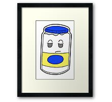 Apathetic Mayonnaise Framed Print
