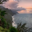 Napali Coast, Sunrise - Kauai by Michael Treloar