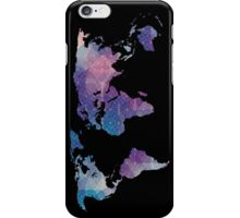 geometric watercolor continent iPhone Case/Skin