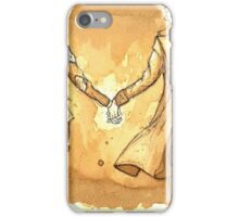 Coffee-painted John and Sherlock iPhone Case/Skin