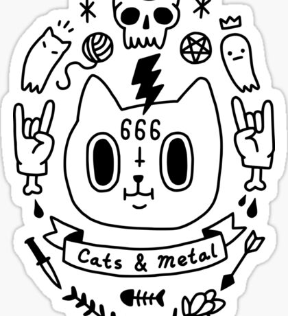 Cats & Metal Sticker