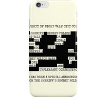 Welcome to Night Vale REDACTED iPhone Case/Skin