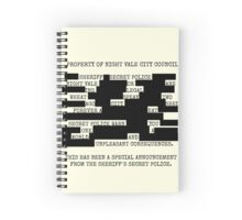 Welcome to Night Vale REDACTED Spiral Notebook