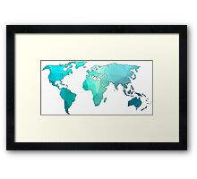 geometric continents Framed Print