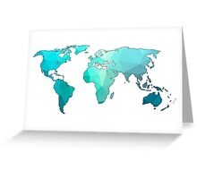 geometric continents Greeting Card