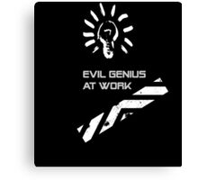 Evil Genius At Work. Canvas Print