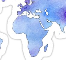 watercolor continents Sticker
