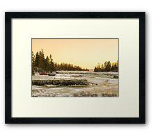 Frozen River in Arcadia Framed Print